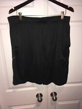 SPALDING Basketball Mens Black Polyester Shorts  XL