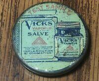 Vick's Test Sample, Antique Vicks Vaporub Salve Tin, Miniature
