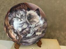 "84B10 041.4 Heather & Hannah (Basket of Love) 8 1/4"" Porcelain Plate 1993 Nib"