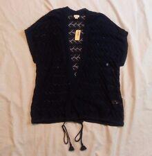 NWT Aerie AEO Women's Blue Sleeveless Knit Cardigan Size Large L