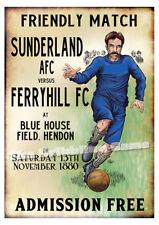 Football Art Imprimé; James Allan-Sunderland AFC 1st de jeu!