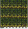Quilting Fabric Green Yellow Lozenge Shapes Black BG Fat Quarters 100% Cotton