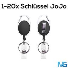 1-20 Schlüssel Jojo Karten Ausweis Clip Kartenhalter Schlüsselanhänger Karabiner