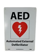 Osha Sign Aed Sign With Graphic Made In The Usa Nmc National Marker D6