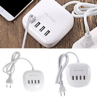 Universal 4 Fast Multiport USB Charger 6.8A Android/IOS Mobile Flat Fast Charger