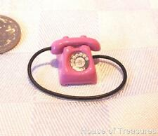 Dolls House *Tiny Pink Telephone * Collectors Item