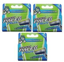 Dorco Pace 6 Plus, 3 Packs DEAL - 12 Cartridge, Six Blade Razor System + Trimmer