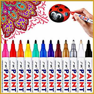 5X Acrylic Paint Marker Pens Permanent Art Metal Glass Wood Pebble Waterproof UK