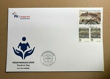RARE !! Turkey Europa Cept 2017 on Taecher's day FDC .(issued quantity only 400)