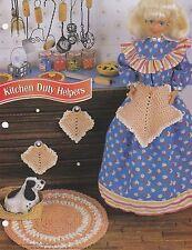 Kitchen Duty Helpers. Annie's Fashion Doll Crochet Pattern FCC08-04 Rug Apron