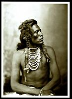 ⫸ 918 Postcard CURLEY Crow Indian Scout 1878 David Barry Photo NEW