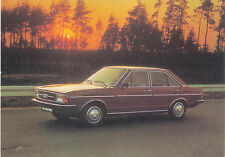 Audi 80 European issue postcard showing a red car 1976-77