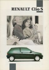 Renault Clio 1.4 S 3-dr 1992 UK Market Foldout Sales Brochure