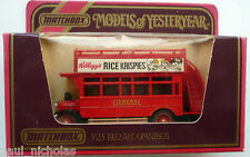 Matchbox Models of Yesteryear Y23 1922 AEC S type Omnibus Rice Krispies