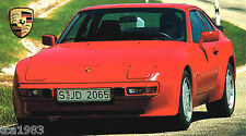 PORSCHE 944 TURBO Brochure:1992,1991,1990,..