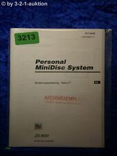 Sony Bedienungsanleitung ZS M30 Mini Disc System (#3213)