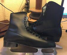 Vintage Brookfield Ice Skates Men 10 Black for Cabin Cottage Decor Skating