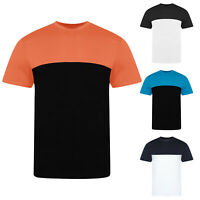 AWDis Just T's Unisex Contrast Colour Block Short Sleeved T-Shirt Tee Top