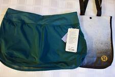 NWT Lululemon Hotty Hot Skirt II - DEGE - Deep Green -- PRIORITY SHIP -- Size 10