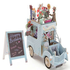 3D Handmade Pop Up Flower Car Greeting Happy Birthday Invitations Cards Gift