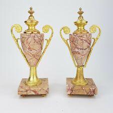 Louis XVI Beisteller Marmor Bronze feuervergoldet Kaminuhr Pendule Empire