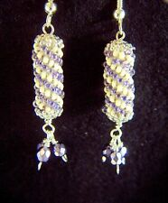 Sterling Silver Earrings with fire polished Czech beads