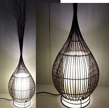 1 X RATTAN WICKER GARLIC DESK LAMP LANTERN LIGHT BALI BALINESE 100CM