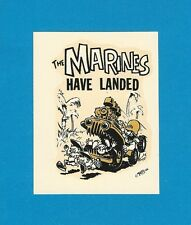 "VINTAGE ORIGINAL 1966 ED ROTH ""THE MARINES HAVE LANDED"" HOT ROD JEEP DECAL ART"
