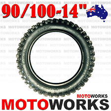 "90/100 - 14"" Inch Rear Knobby Tire 125cc 140cc 150 BIGFOOT PIT TRAIL Dirt Bike"