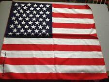 "USA Flag Bandana - 22"" x 22"" Head Wrap - Scarf -  Napkin Made USA"