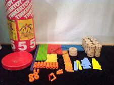 Vtg Tinker Toy Gabriel Construction Set 149 Pieces
