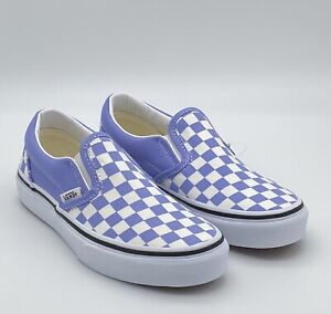 VANS Classic Slip-On Checkerboard - Purple White - Youth Kid's Skate Shoes