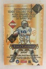 2000 EDGE GRADED FOOTBALL CARD BOX 1 PSA GRADED ROOKIE-1 PACK+GRADED 10 BRADY $$