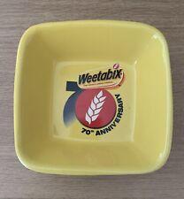 Vintage Weetabix Cereal 70th Anniversary Ceramic Bowl