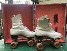 REDUCED! Betty Lytle Roller Skates w/Case. Sure-Grip Wheels Pro-Tek-Toes. Size 4