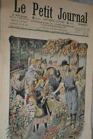 Distribution de fleurs / Le Petit Journal sup illustré N°938 / 8 novembre 1908