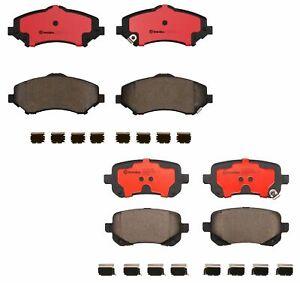 Front and Rear Brembo Ceramic Brake Pads Kit for Chrysler Dodge Journey Ram C/V