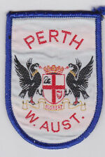 Perth, Western Australia, Cot of Arms - Souvenir Woven Cloth Patch / Badge