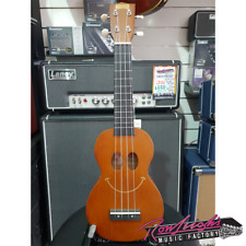 Mahalo Smiley Face Soprano Ukulele in Brown with Bag and Fitted Aquila Strings