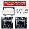 Car Radio Fascia multimedia Frame Kit For Ford Fiesta 2001-2005 2 din Panel
