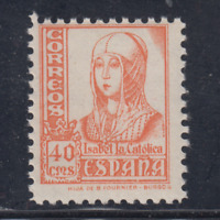 ESPAÑA (1937) NUEVO SIN FIJASELLOS MNH SPAIN - EDIFIL 824 (40 cts) ISABEL LOTE 1
