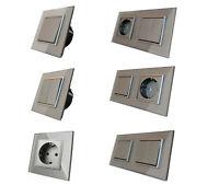 LIVOLO Design Lichtschalter Wandschalter Wippschalter Kippschalter Glas Grau