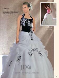 2021 Duchesse Schwarz Weiß Rot Quinceanera Brautkleid Stickerei Feder Blumen