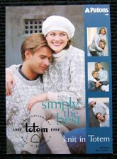 Patons Knitting Pattern Book 1148 - Totem 8ply - 3 styles for Women & Men