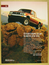 1992 Toyota 4WD Xtracab SR5 V6 Pickup Truck color photo vintage print Ad