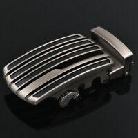 1PCS Silver Tone Black Stripe Plate Automatic Buckle for 3.6cm Belt #93403