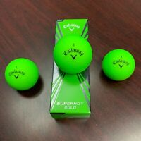 CALLAWAY SUPERHOT BOLD Golf Balls - VIVID GREEN Matte Color - NEW 3-ball sleeve