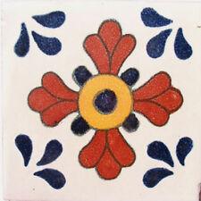 90 MEXICAN CERAMIC TILES WALL OR FLOOR USE CLAY TALAVERA MEXICO POTTERY #C036