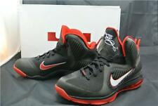 Nike lebron 9 baskets taille 8 uk noir blanc rouge basket chaussures air max