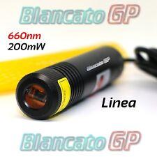 Diodo Laser Modulo 660nm 200mW linea alta luminosità allineamento posizionamento